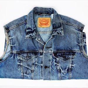 [vintage] Levi's Blue Jean Denim Button Down Vest